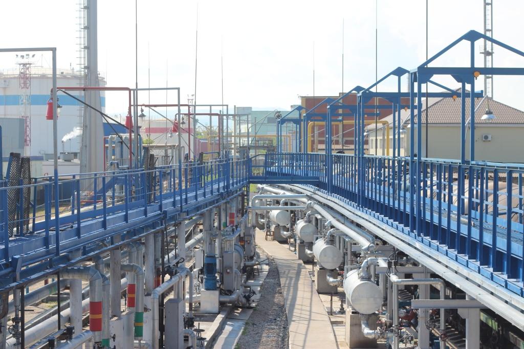 Железнодорожная эстакада (ООО «Кубанский топливный терминал», г. Новороссийск)