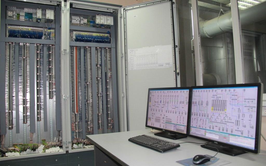 Система управления АСУ ТП, шкаф контроллера